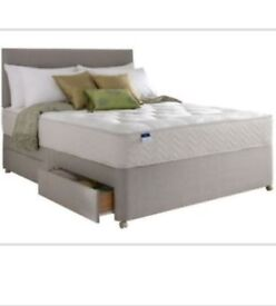 Shire Beds Double Divan bed base with 4 storage drawers Grey