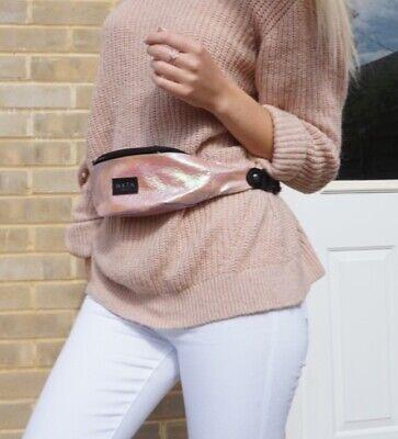 HXTN Supply pink iridescent bum bag brand new