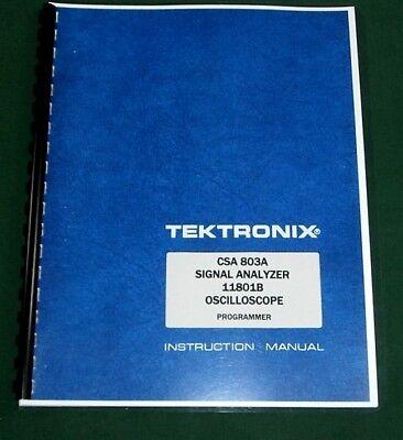 Tektronix 11801b Csa 803a Programmer Manual Comb Bound Protective Covers