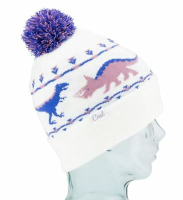 b1b0105a Coal Headwear THE DINA Womens Cuffed or Slouchy Pom Beanie Creme NEW