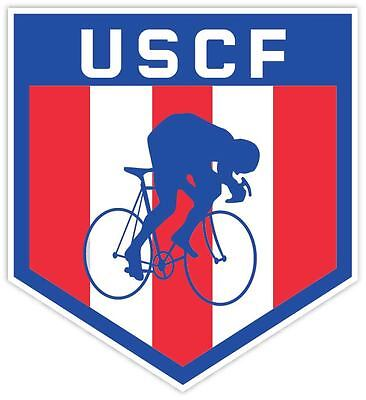 United States Cycling Federation Uscf Logo Vinyl Sticker Decal  Sizes