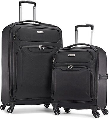 *NEW* Samsonite Ultralite Extreme 2 Piece Softside Luggage Set Black (Sealed)