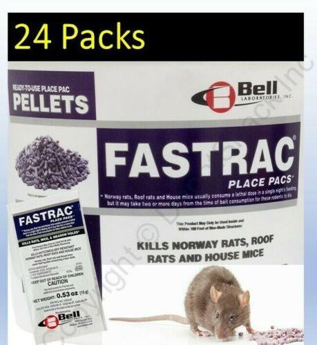 12 Packs - Fastrac Bromethalin Rat, Mouse, Vole Mice Poison Pellet CALIFORNIA OK