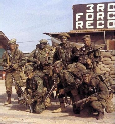 Vietnam War USMC 3rd Force Recon 1970 Covert Ops Old Slight Grain 8.5x11 Photo