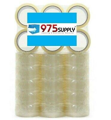 36 Rolls Carton Sealing Packing Tape Box Shipping - 2mil 2 X 50 Yards Clear