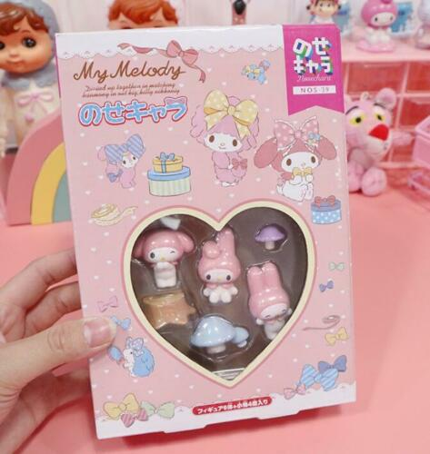 Cute My Melody Figures Play Toy Doll Cake Toppers Set Collective Figurines Gifts