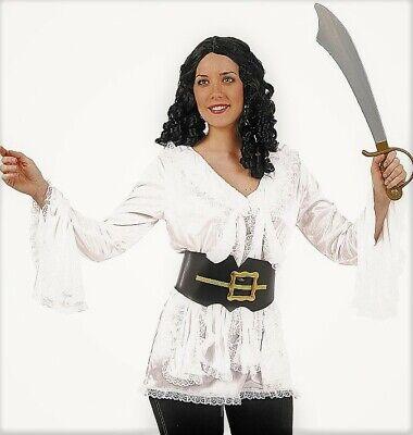 CHEMISIER Blanc MOUSQUETAIRE Luxe M/L Déguisement Femme Médiévale - Mousquetaire Kostüm