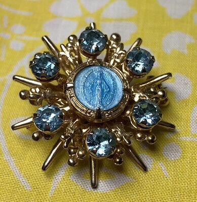 Vintage Art Deco Style Silver Tone Glass Stone Fish Design Double Pin Set Aurora Borealis Jewelry   K#44