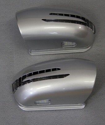 Spiegelkappen + LED Blinker FÜR Mercedes R170 SLK SILBER 744