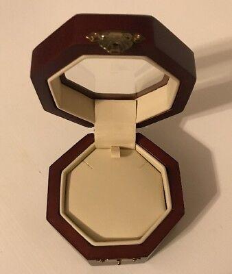 NEW Octagonal Burgundy Wood Necklace Bracelet Jewelry Display Boxes Window