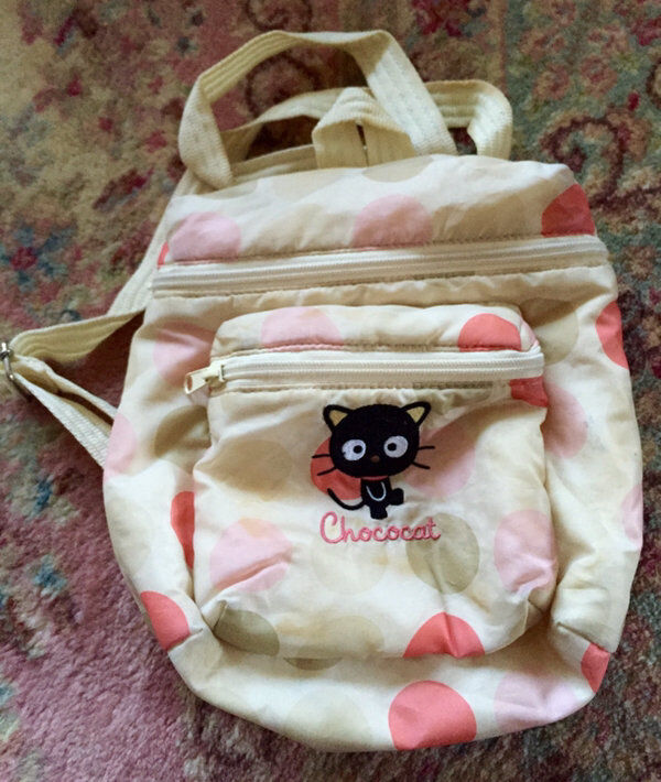 Vintage 2002 Hello Kitty Chococat Sanrio Dots Bubbles Backpack Excellent Rare