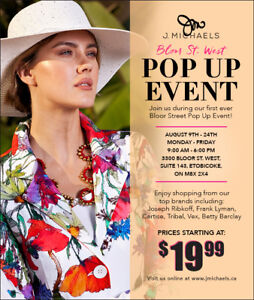 FASHION POP UP SALE - Save Big on Designer Clothing