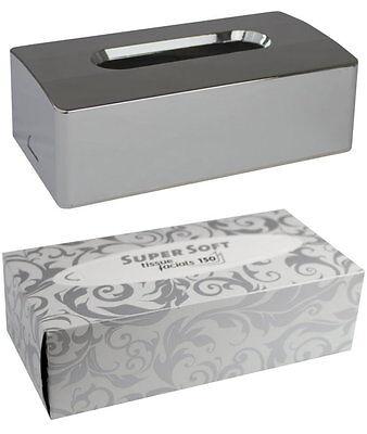 Medi-Inn Kosmetiktuchbox 2-teilig 25 x 13,5 x 8 cm + 150 Kosmetiktücher