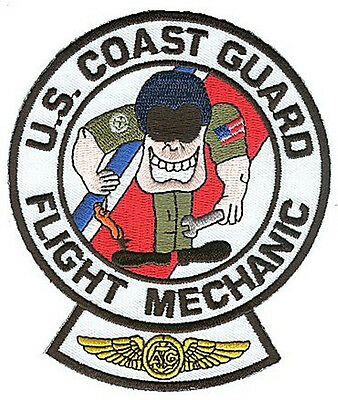 Flight Mechanic with tools W4936c Coast Guard patch