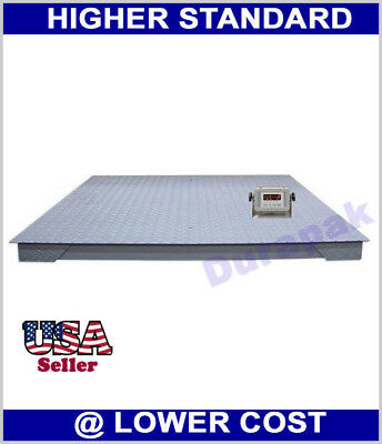 10000 Lb 4x4 Digital Floor Scale With Indicator Pallet Weighting Warehouse