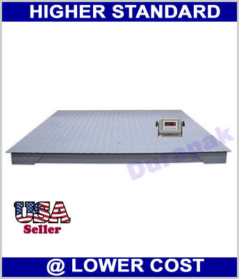 5500 lb Digital Floor Scale with Indicator Industrial Pallet Weighting Warehouse