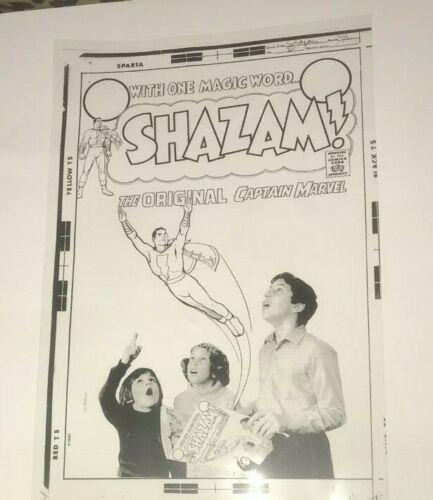 Captain Marvel Shazam ! Dc Comics Photo Cool Cover Art Production Acetate