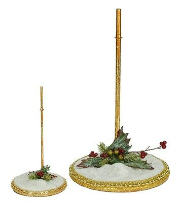 Mark Roberts Snow Base Stand Small  Use for Elves or Fairies Item# 51-84142