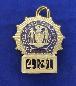 ;;/ Historisches Police Badge NYPD Detective