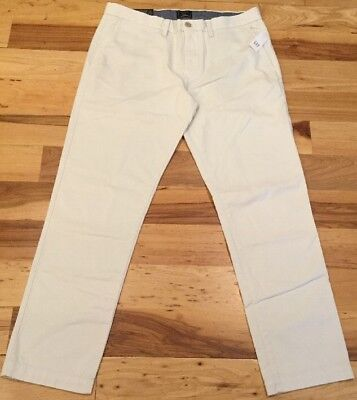 (Gap Men's 35 X 30 Cream White ( Slim Stretch ) Gap Khakis Dress Pants. Nwt)