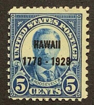 Travelstamps: US Stamps Scott #648, 5¢ Hawaii, Theodore Roosevelt, mint, mnh, og