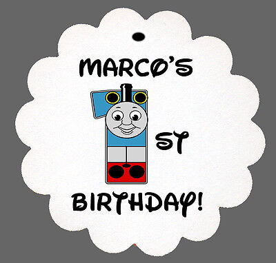 24 Personalized Thomas The Tank Engine Birthday Scalloped Tags Party Favors