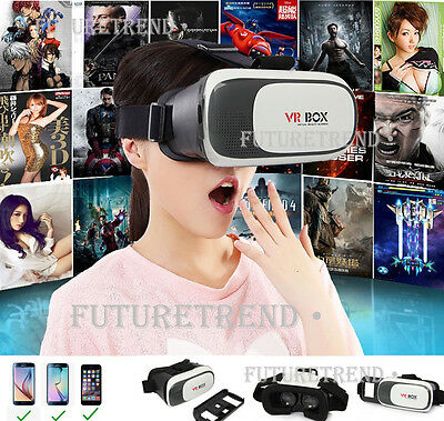 2nd Generation 3D Virtual Reality VR BOX Goggles Glasses For iPhone Samsung