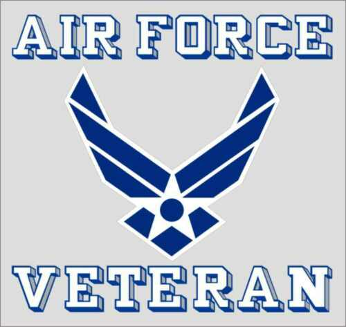 """US Air Force Veteran Logo Clear Sticker Decal 3.75"""" X 3.5"""" made in USA Licensed"""