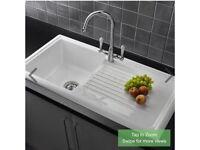 New Reginox White Ceramic Kitchen Sink