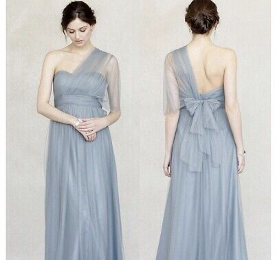 Jenny Yoo Annabelle Convertible Tulle Dress US 8 Mayan Blue - New