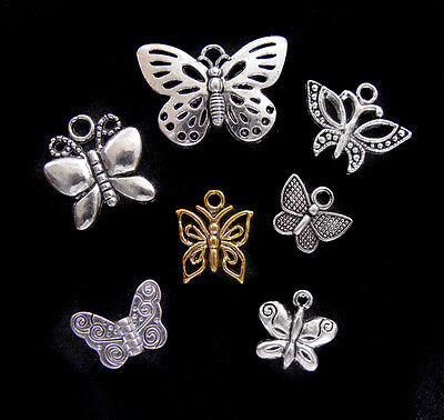 7 pcs Monarch Butterfly Insect Pendants USA SELLER Silver Charm Silver Jewelry