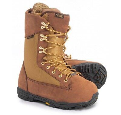 79b191b01e21a3 2018 NIB MENS BURTON X DANNER SNOWBOARD BOOTS  420 7 brown khaki leather  shell