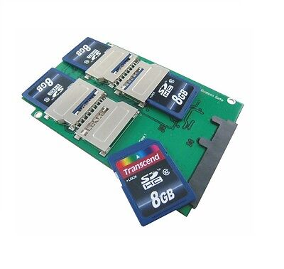 (4-Port SD to SATA Adapter with 2.5 Inch Housing)