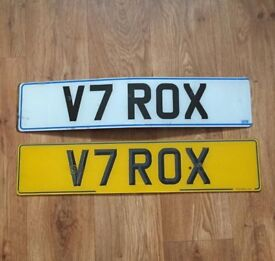 V7ROX private number plate