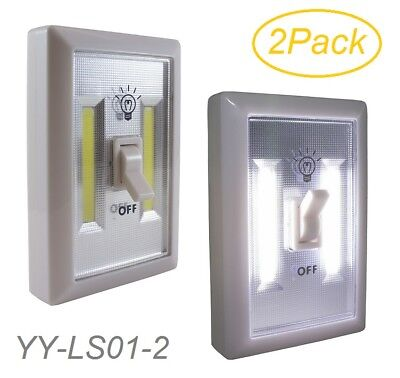2 Pack Promier  Battery Operated Cob Led Cordless Light Switch  Yy Ls02 2