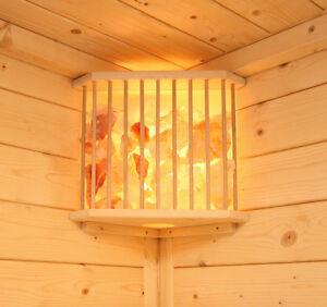 Set Saunalampe + Blendschirm Salzkristall Saunaleuchte Saunalicht Lampenschirm