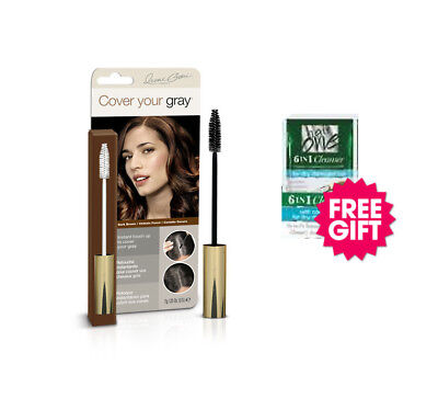 - Cover Your Gray Brush In Wand - Dark Brown w/ FREE Coconut Hair Cleanser