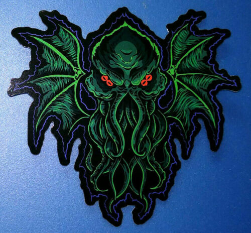STICKER - Cthulhu - HORROR / Monster, H.P. Lovecraft, die cut - Art by Hag Cult