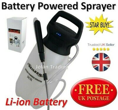 5 Litre Battery Powered Sprayer Garden Insecticides Green house Allotment 2340
