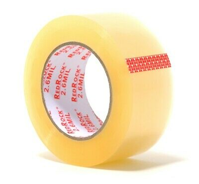 36 Rolls Redrock 2 X 110 Yds 2.6 Mil Clear Heavy-duty Packing Shipping Tape