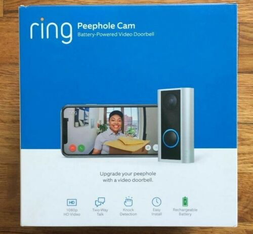 Ring Peephole Cam - Battery Powered Smart video doorbell, HD video, 2-way talk