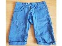 "Mens waist 30"" 883 police jeans short in blue"