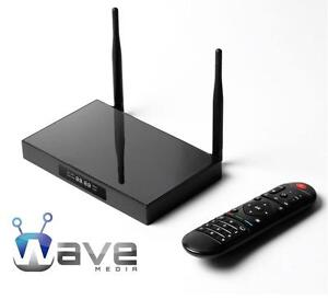 WAVE MEDIA® ANDROID TV BOX *UNLIMITED MOVIES *TV SHOWS *SPORTS