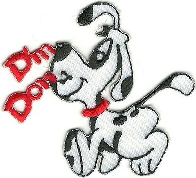 (Cartoon Din Don Dalmatian Dog Embroidery Iron On Sew On Patch)
