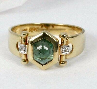 Extravaganter Ring in 585 Gold mit Turmalin und Diamant 0,01 ct.