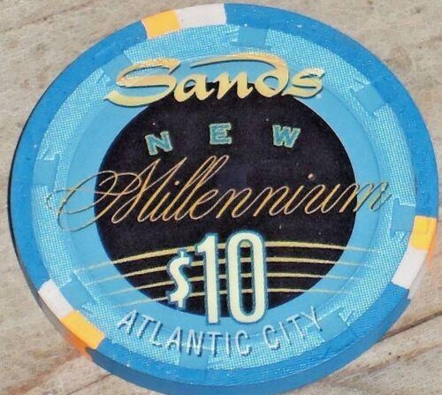$10 MILLENNIUM 2000 CASINO CHIP THE SANDS ATLANTIC CITY