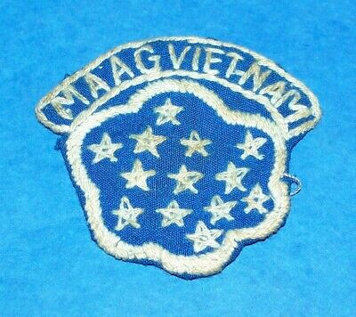 ORIGINAL HAND EMBROIDERED 1960's MAAG VIETNAM THEATER MADE PATCH (GLOWS)