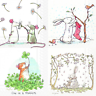 4 x Single Paper Table Napkins/Decoupage/Scrapbooking/Easter Mix/Rabbits/Mice