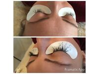 Eyelash extensions £20