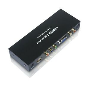 HDMI to YPbPr Component RCA or VGA D-Sub R/L Optical DTS5.1 Audio Converter